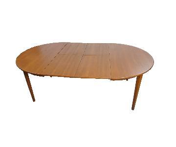 Clara Danish Teak Dining Table w/ 2 Fold Down Leaves