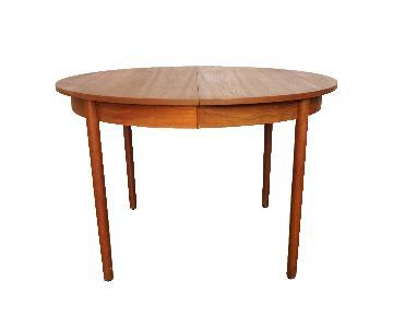 Elly Danish Teak Dining Table w/ 2 Leaves