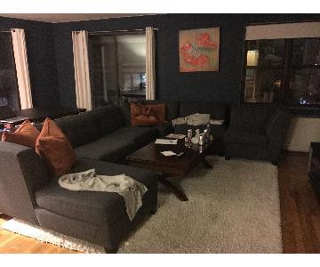 Macy's Harper Sectional Sofa in Charcoal