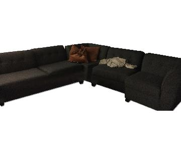 Macy's Harper Sectional Sofa in Charcoal