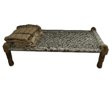 ABC Carpet and Home Silver Charpoy Bench