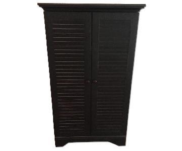 Sauder Dark Brown Wood Storage Armoire