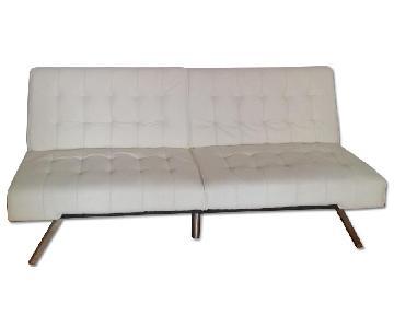 Modern Convertible White Futon