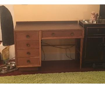 Mid Century Modern 5-Drawer Desk
