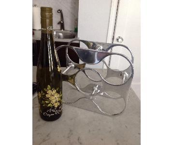 Crate & Barrel 5 Bottle Winerack