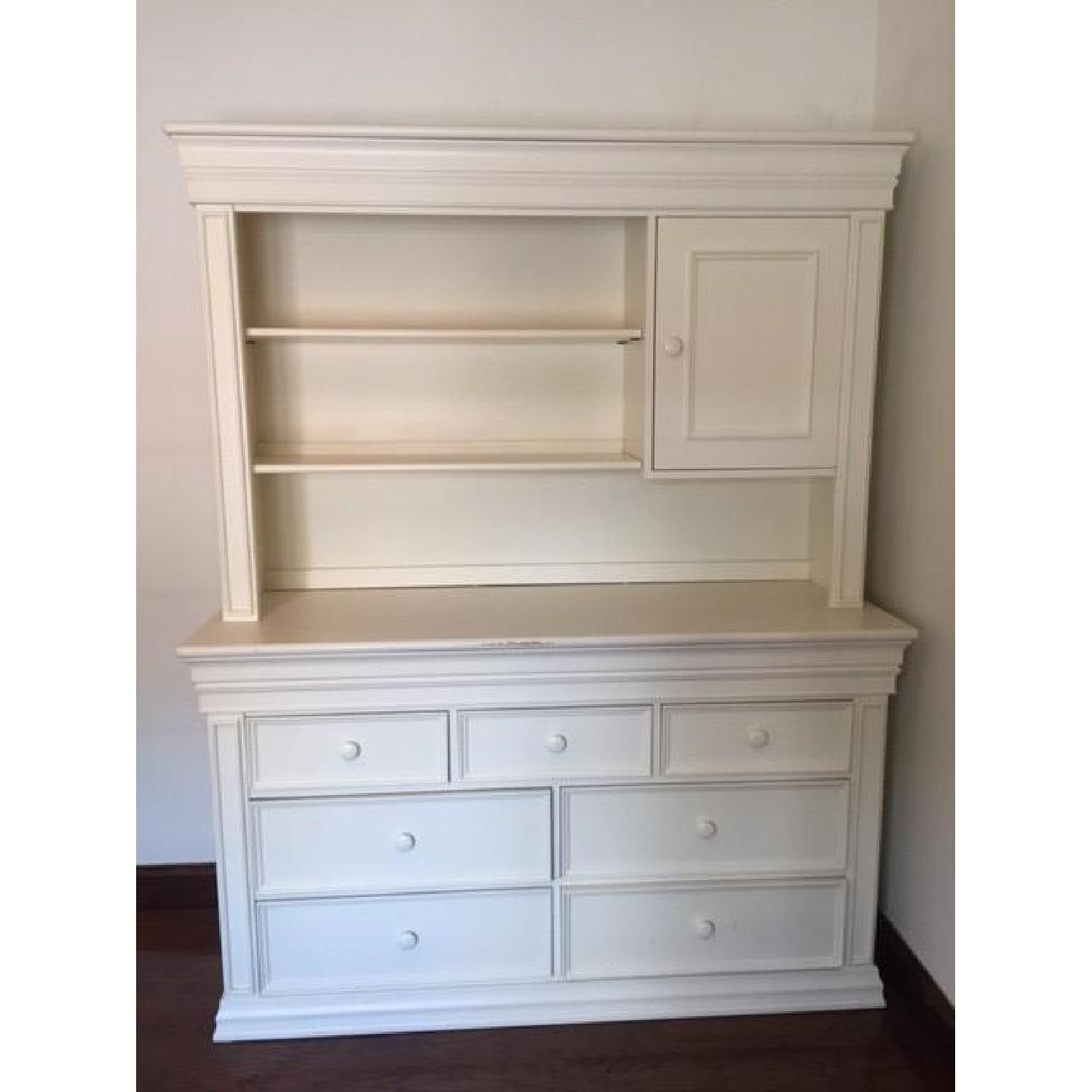 Image of: Baby S Dream Dresser Changing Table W Hutch Aptdeco
