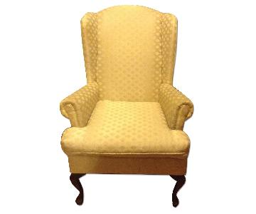 Wing Back Chair in Sand Color
