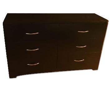 South Shore Black 6-Drawer Dresser