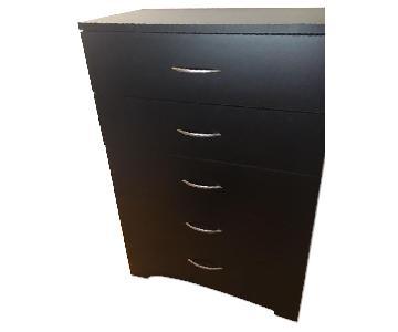 South Shore Furniture Tall Black 5 Drawer Dresser