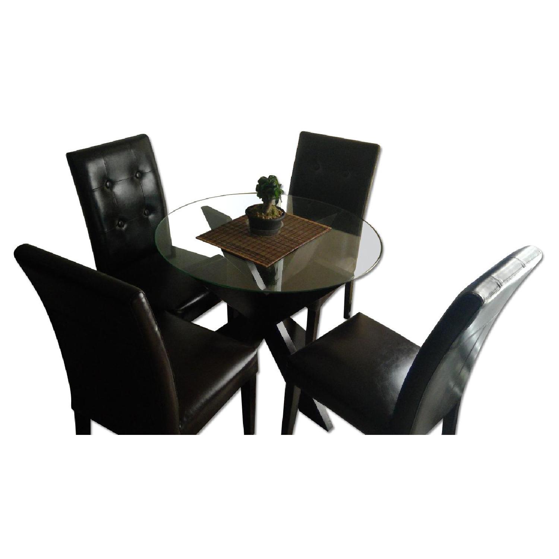 Pier 1 Round Dining Table w/ 4 Dining Chairs - AptDeco