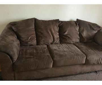 Ashley's Brown 3 Seater Soft Sofa