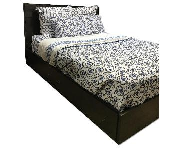 Room & Board Hudson Queen Bed w/ Storage Drawers