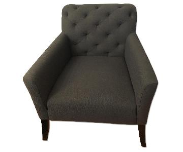 West Elm Grey Elton Arm Chair
