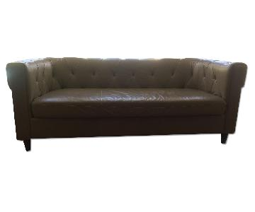 West Elm Chester Tufted Leather Sofa
