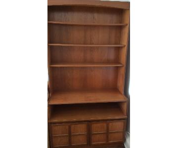 Danish Mid-Century Modern Solid Teak Bookcase