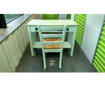 Painted Desk & Chair
