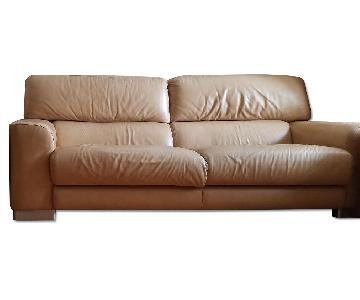 Incanto Italian Made Leather Sofa + 2 Chairs