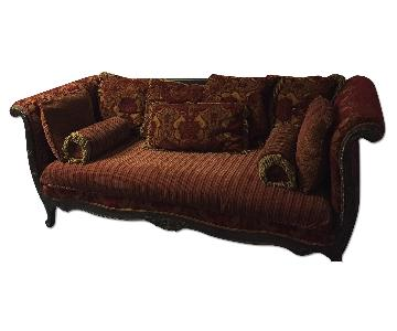 Antique Style Red Sofa