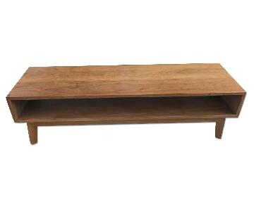 Custom Mid Century Modern Walnut Coffee Table