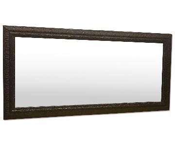 Large Rectangle Wall Mirror With Detailed Edges