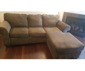 3-Piece Sectional Sofa w/ Reversible Chaise lounge