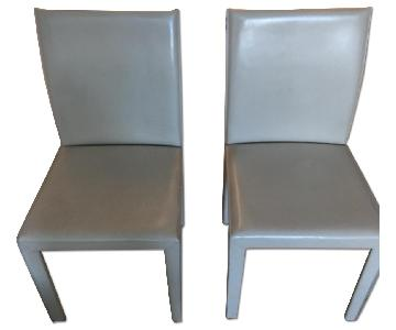 Crate & Barrel Folio Ivory Dining Chairs