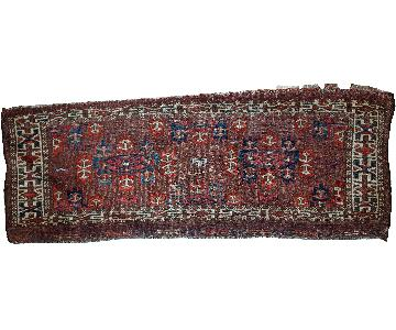 Antique 1880s Handmade Turkmen Yomud Rug