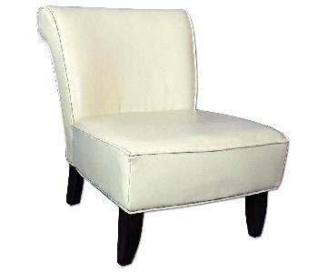 Mid Century Modern Leather Slipper Lounge Chair