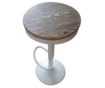 White & Solid Wood Counter Height Stool
