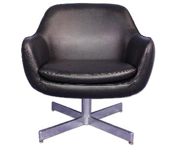 Eames Faux Leather Black Lounge/Office Chair