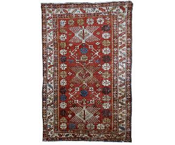 Antique 1910s Handmade Caucasian Shirvan Rug