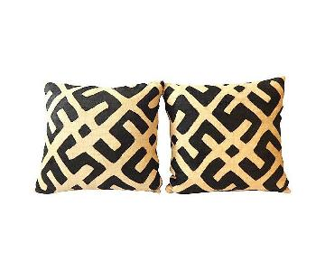 DR of the Congo African Kuba Textile Pillows