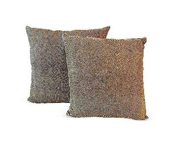 Congo African Embroidered Kuba Textile Pillows