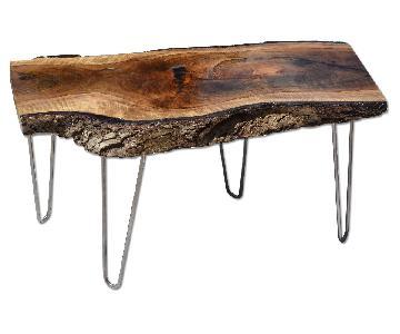 Rustic Walnut Live Edge Table