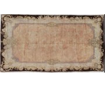 Vintage Turkish Aubusson Rug