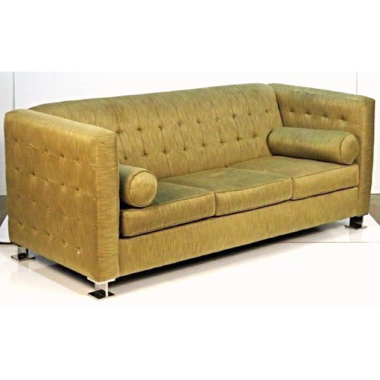 Ward Bennett Chrome Leg Upholstered Sofa-0