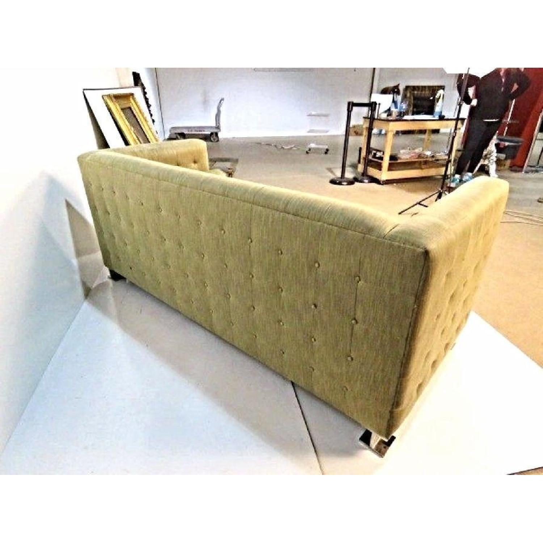 Ward Bennett Chrome Leg Upholstered Sofa-1