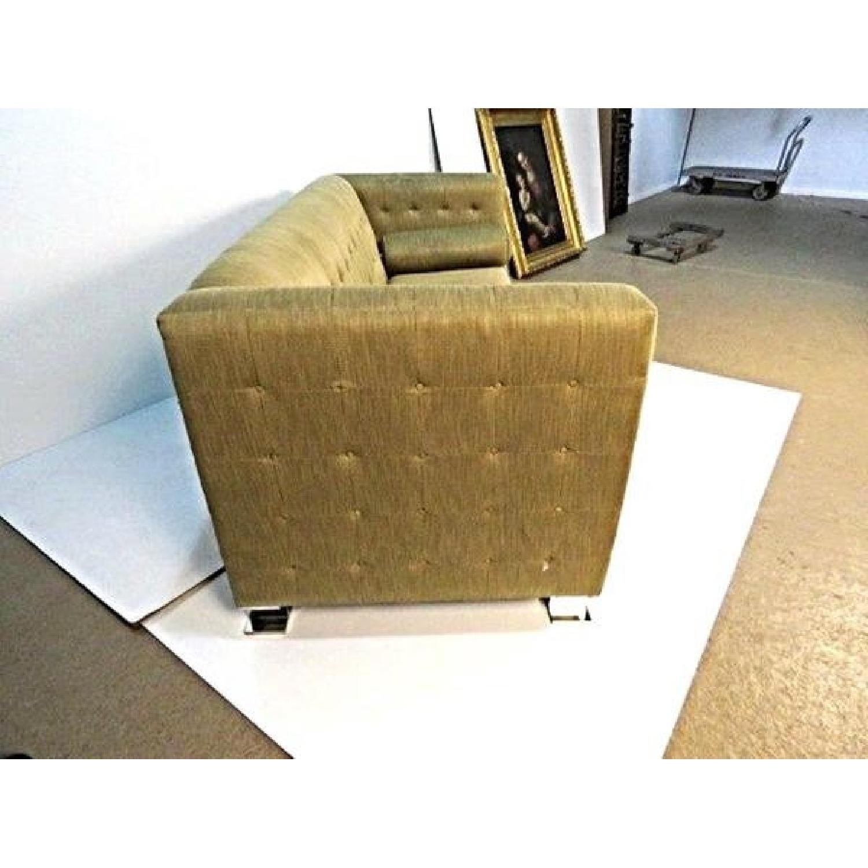 Ward Bennett Chrome Leg Upholstered Sofa-3