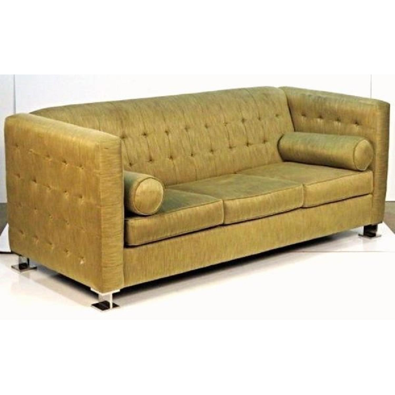 Ward Bennett Chrome Leg Upholstered Sofa-4