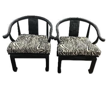 Century Chair Company Vintage Asian Inspired Ming Arm Chairs