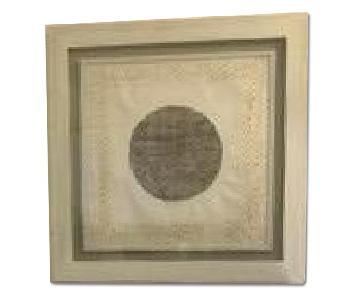 West Elm Frame in Frame Textured Paper Art