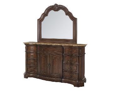Edington Dresser w/ Mirror + 5 Drawer Chest