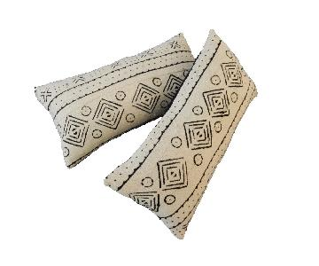 African Mali Mud Cloth Bogolan Lumbar Pillows