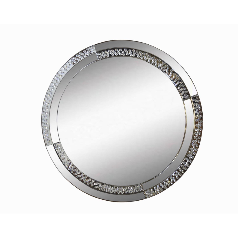 Round Crystal Mirror