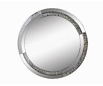 Round Crystal Mirror