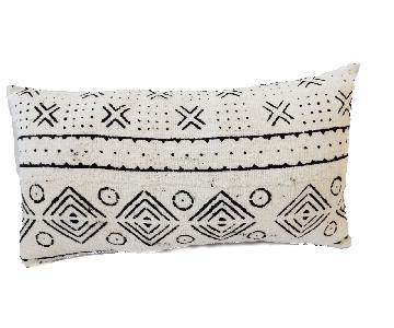 African Mali Mud Cloth Bogolan Lumbar Pillow