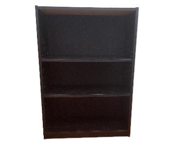 Ameriwood Industries Black Wooden 3-Shelf Bookcase