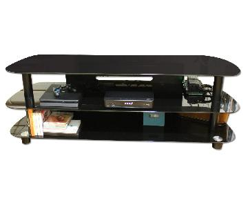 Black Glossy 3 Level TV Stand