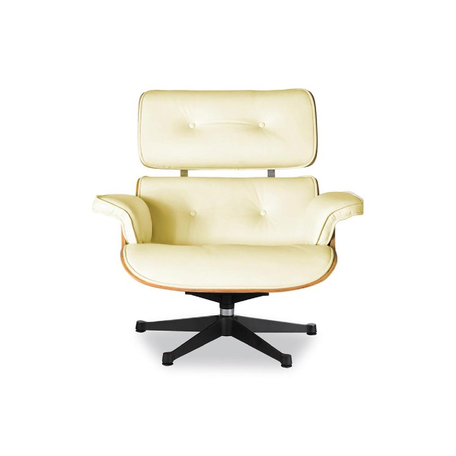 Eames Lounge Chair Replica in Cream AptDeco