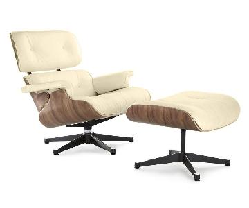 Eames Lounge Chair Replica in Cream